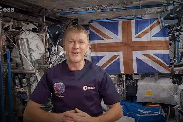 Tim Peake aboard the ISS