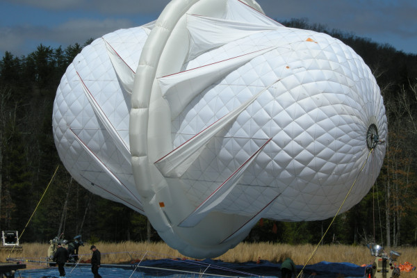 An inflatable turbine