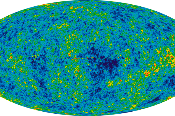 The Cosmic Microwave Background temperature fluctuations from the 7-year Wilkinson Microwave Anisotropy Probe data seen over the full sky. The image is a mollweide projection of the temperature variations over the celestial sphere.The average...