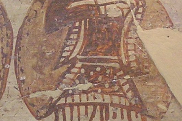 Mycenaean warrior on a Bronze Age krater vase