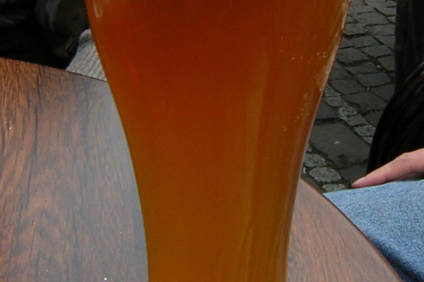 Wheat beer. Beer brewed with, surprisingly, wheat.