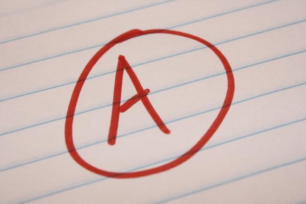 A grade on work