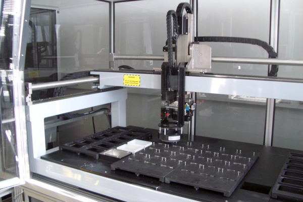 A cell picking robot at the Sanger Institute