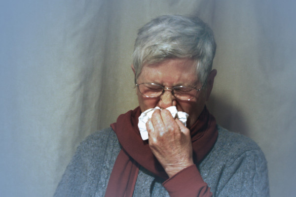 A cold can cause temporary anosmia (loss of the sense of smell)
