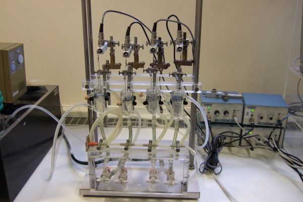 The equipment used for measuring the tension in an artery
