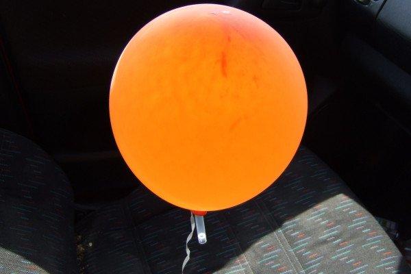 A helium balloon