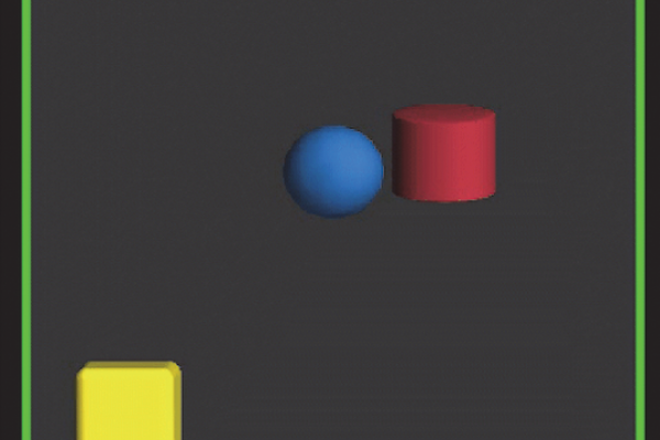 A brutal square attacking a circle