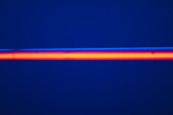 A laser beam.