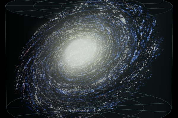 Artist's impression of the Milky Way: the stars are collapsed into a flat disc
