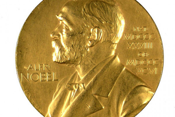 Nobel Prize medal inscribed