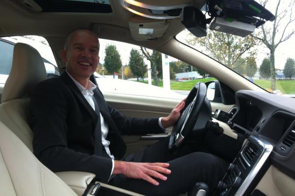 Engineer Erik in Volvo's Driverless Car
