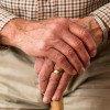 Old man hands