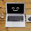 Smiling laptop