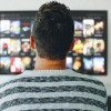 A viewer watches streaming media online