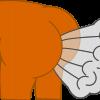 Cartoon bottom farting