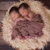 Two twin babies sleeping.