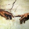 Michelangelo's Creation of Adam mural