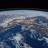 a picture of the Earth from the ISS space station