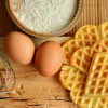 Eggs Whisk and Waffles