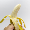 A peeled banana