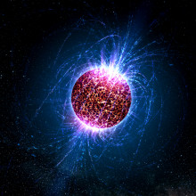 Artist's illustration of an 'isolated neutron star' -- one without associated supernova remnants, binary companions or radio pulsations.