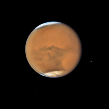 Image of Mars during a dust storm