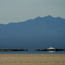 A mirage in the Mojave desert