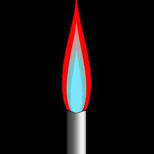 Graphic of a bunsen burner.