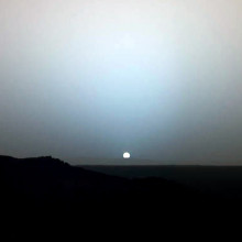 Sunset on Mars captured by Mars Exploration Rover Spirit