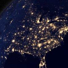 USA at night