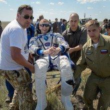 Tim Peake returns from space