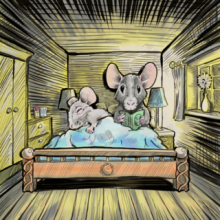 Mice in bed