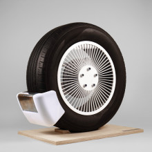 device to collect tyre pollution