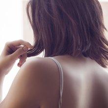 Woman's bare shoulders