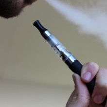 Smoking an e-cigarette