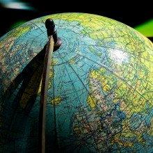 A globe map of Earth