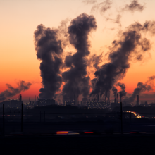 Factory producing air pollution