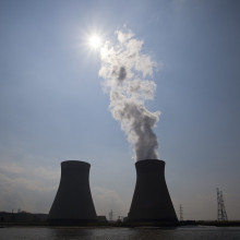 Image of nuclear power station on a sunny day