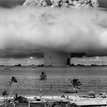 Nuclear weapons test explosion