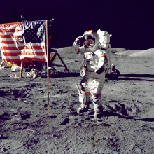Apollo astronaut on the Moon