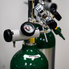 Tanks of oxygen.