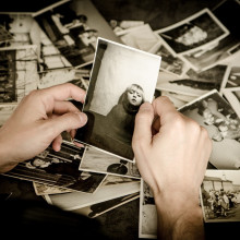 Looking at a photo of a young girl