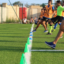 Young people taking part in track and fitness training