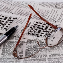 A newspaper with a crossword