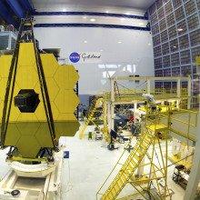 JWST in testing chamber