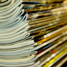A stack of journals
