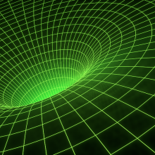 Stylised depiction of the fabric of spacetime.