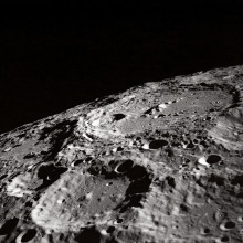 The surface of the moon.