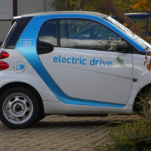 ELECTRIC CAR PARKED AT HOME