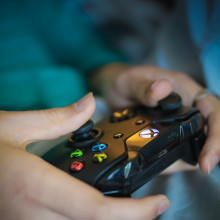 An Xbox controller.